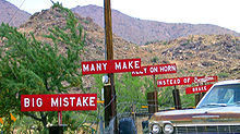 Burma Shave road sign adverts