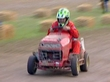 Riding lawn mower race