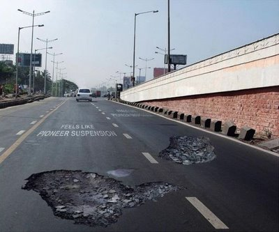 More potholes