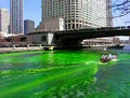 Dying the Chicago River Green